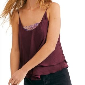 Free People Turn it on camisole sequins small